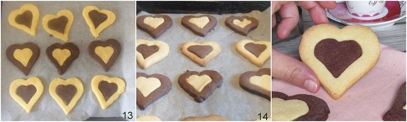biscotti bicolore a cuore ricetta dolci san valentino il chicco di mais 5 cuocere i biscotti