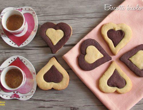 Biscotti bicolore a cuore