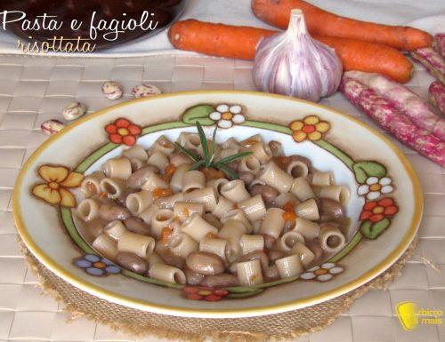Pasta e fagioli risottata