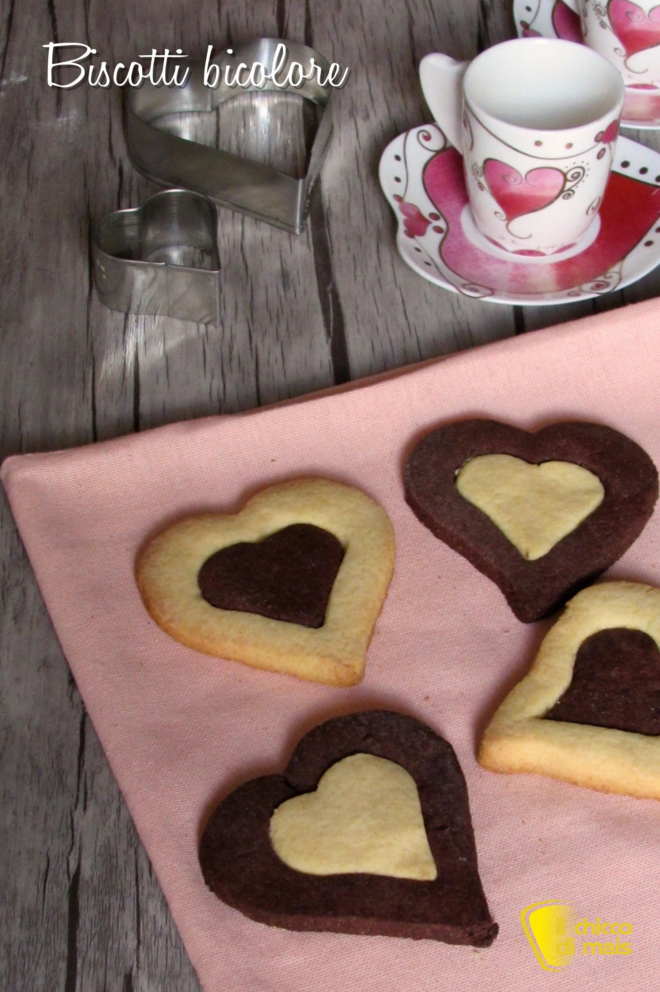 verticale_biscotti bicolore a cuore ricetta dolci san valentino il chicco di mais