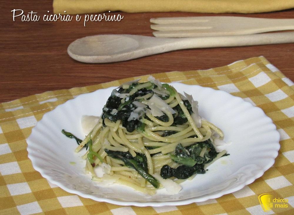 Pasta cicoria e pecorino cremosa mantecata ricetta spaghetti con cicoria il chicco di mais