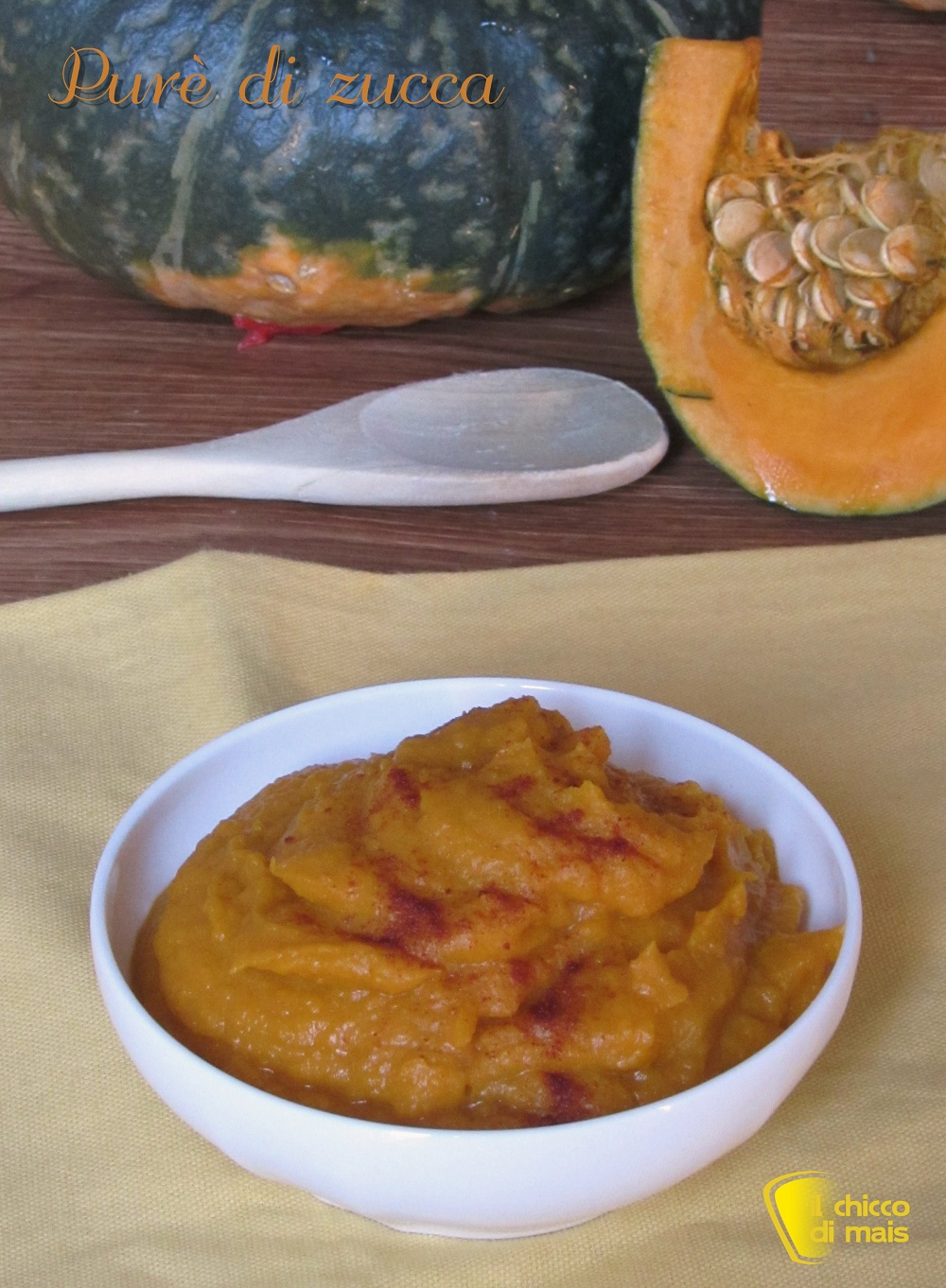 verticale_purè di zucca con zucca cotta al cartoccio in forno ricetta facile il chicco di mais