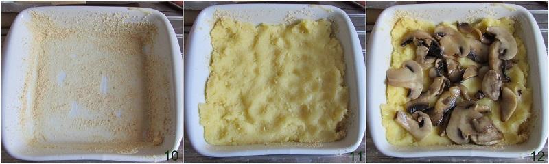 Gattò di patate e funghi con mozzarella filante ricetta il chicco di mais 4 assemblare il tortino
