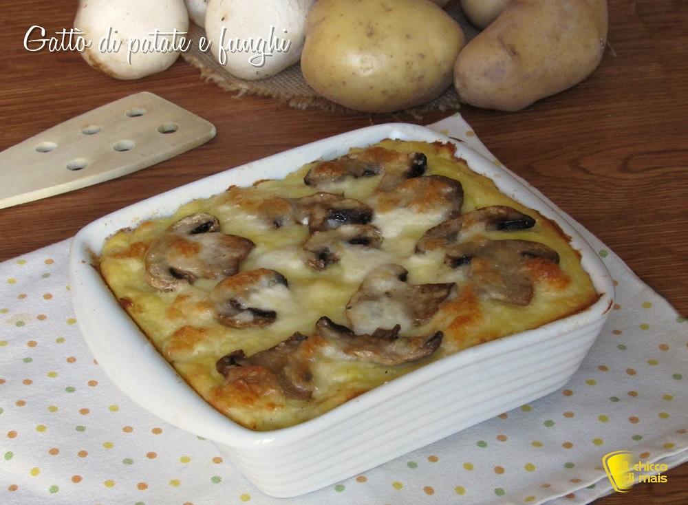 ricette con i funghi Gattò di patate e funghi con mozzarella filante ricetta il chicco di mais