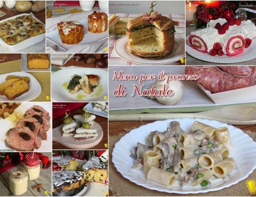 Menu per il pranzo di Natale 2017