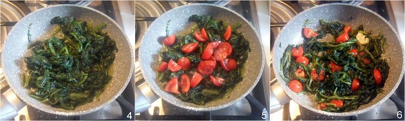 cicoria ripassata in padella con pomodoro fresco ricetta facile e veloce il chicco di mais ripassare la cicoria