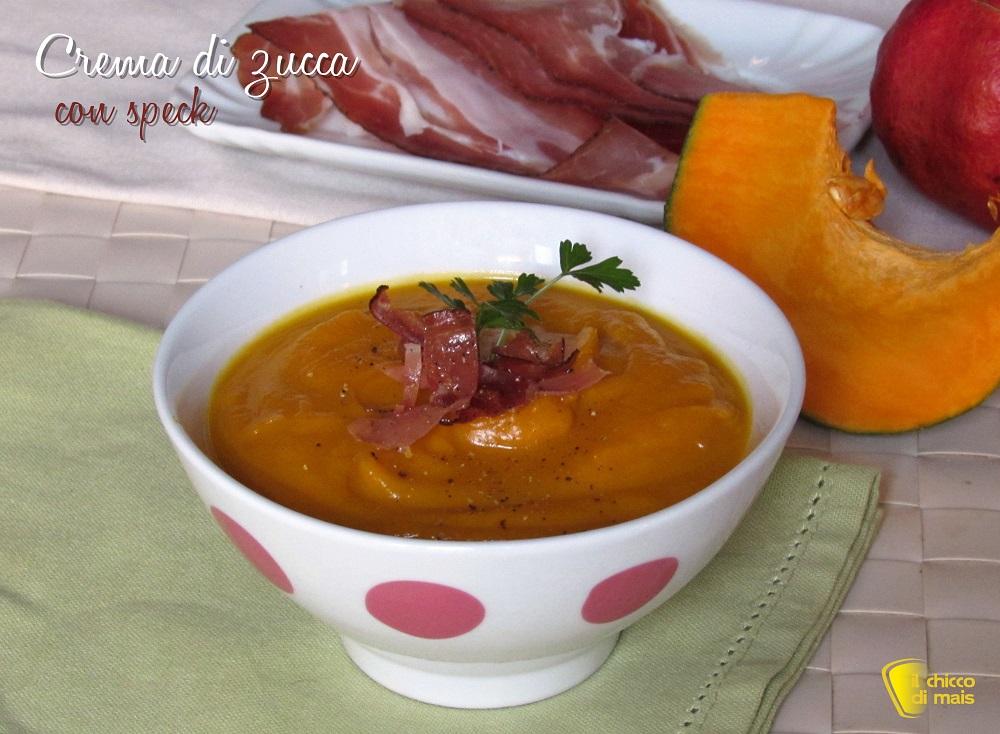crema di zucca con speck croccante ricetta vellutata di zucca densa e cremosa il chicco di mais