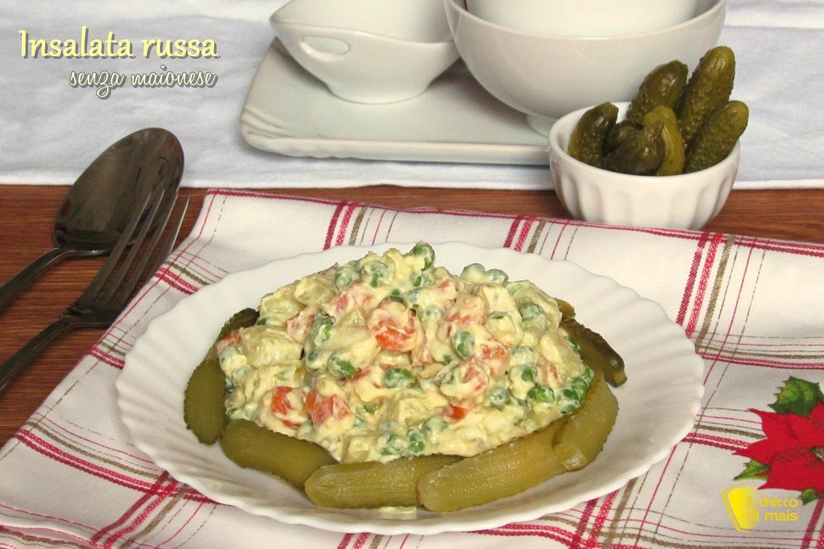 insalata russa senza maionese senza uova ricetta light leggera per natale il chicco di mais