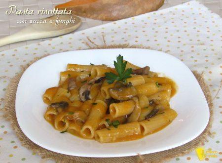 Pasta risottata con zucca e funghi