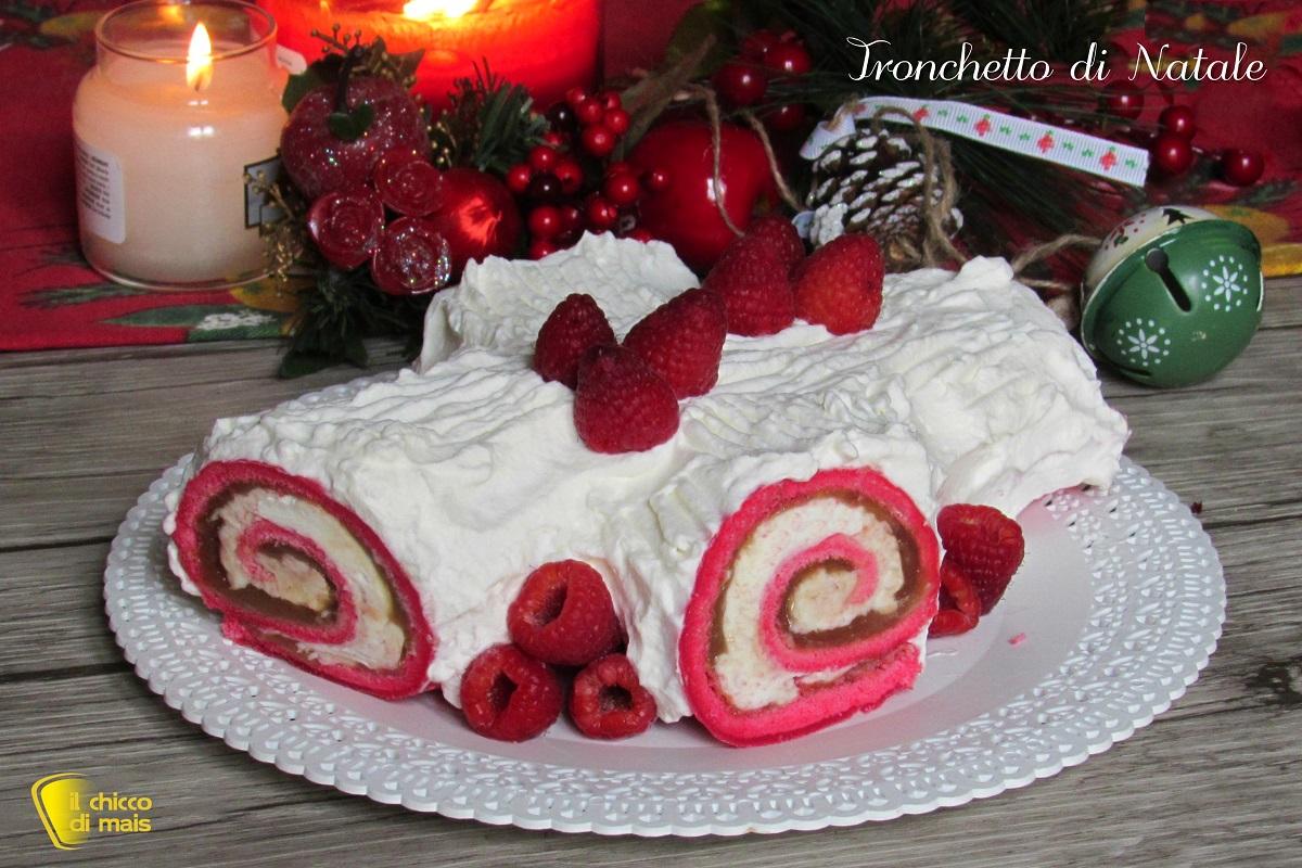 Torte Decorate Per Natale tronchetto di natale bianco