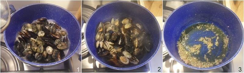 risotto cozze e vongole ricetta risotto di pesce facile economico il chicco di mais 1 aprire cozze e vongole