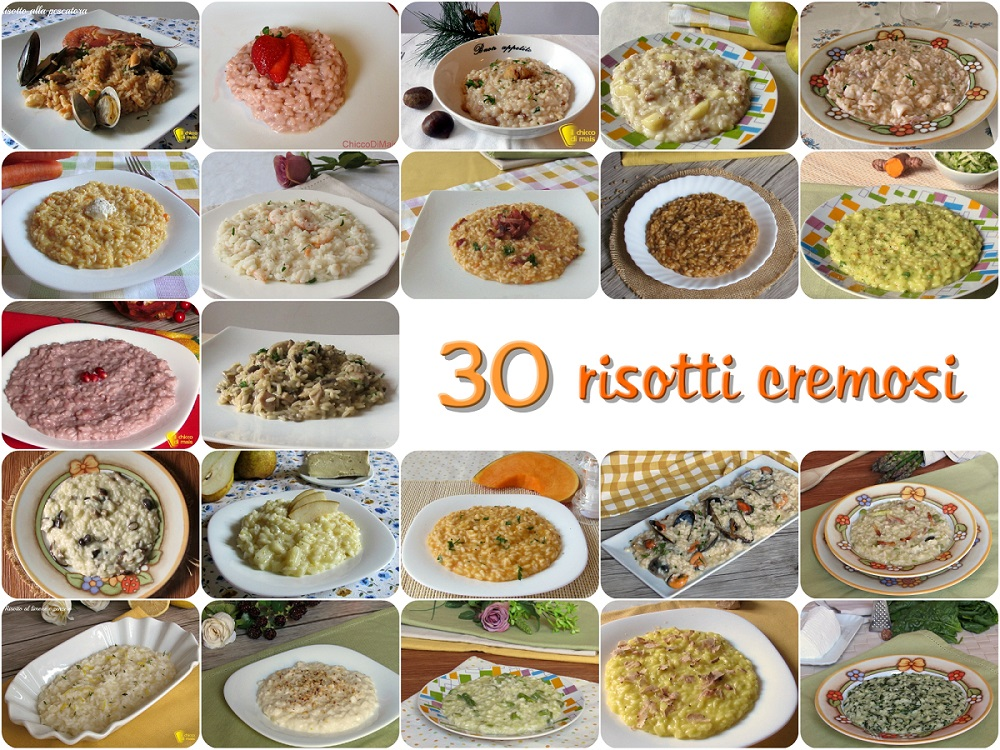 30 risotti cremosi ricette semplici originali vegetariani carne e pesce il chicco di mais