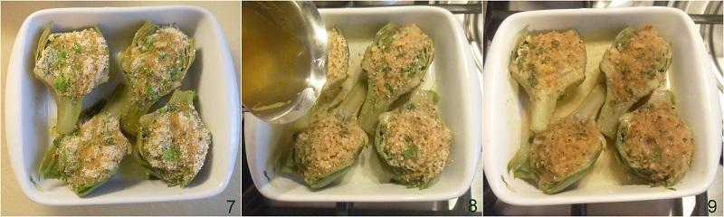 carciofi ripieni senza carne con pangrattato gratinati al forno ricetta il chicco di mais 3 cuocere i carciofi al forno