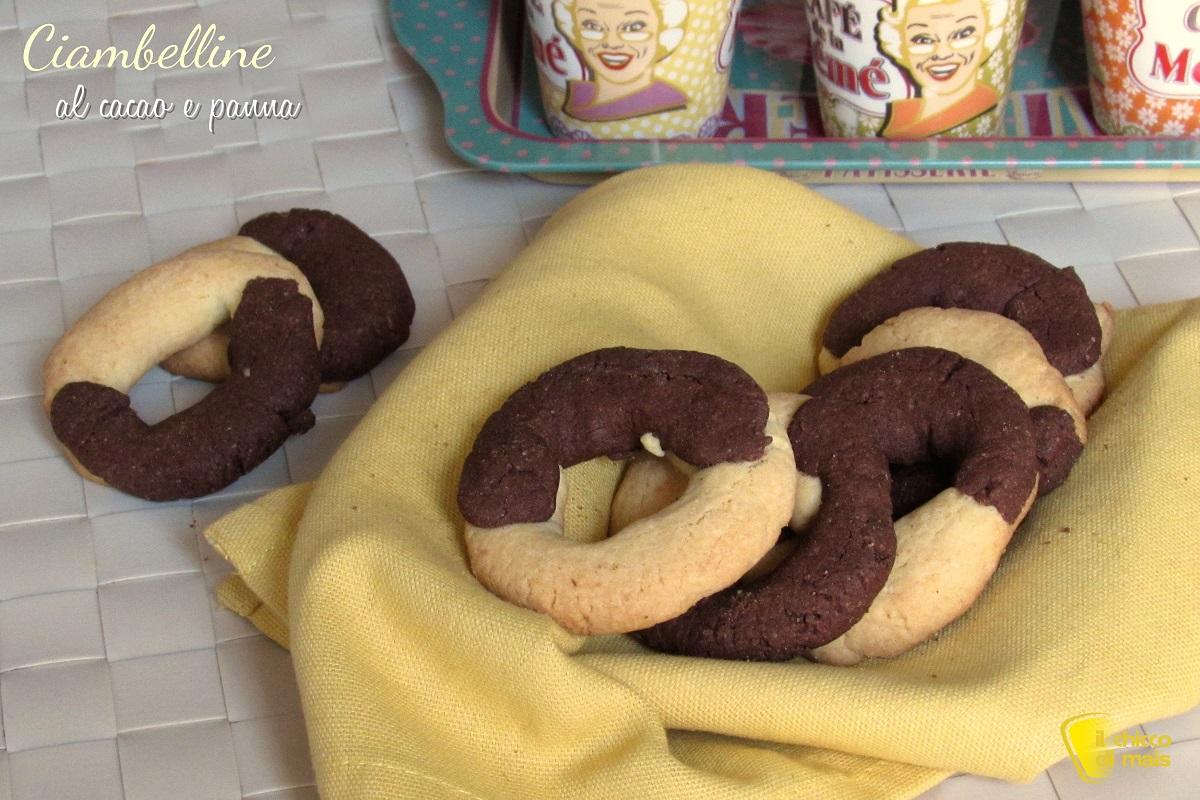 ciambelline al cacao e panna ricetta biscotti bicolore il chicco di mais