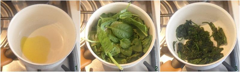 risotto agli spinaci e ricotta ricetta facile il chicco di mais 1 cuocere gli spinaci