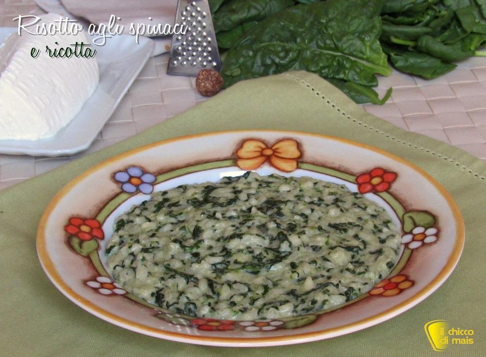 risotto agli spinaci e ricotta ricetta facile il chicco di mais