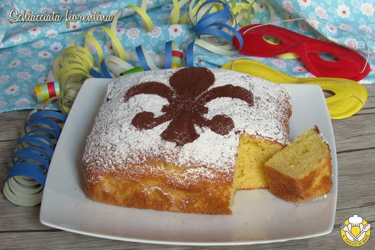dolci di carnevale schiacciata fiorentina ricetta dolce di carnevale soffice il chicco di mais