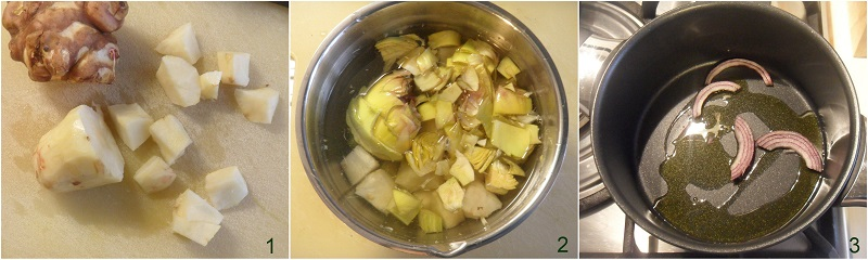 vellutata di topinambur con carciofi croccanti ricetta light senza patate il chicco di mais 1 tagliare il topinambur