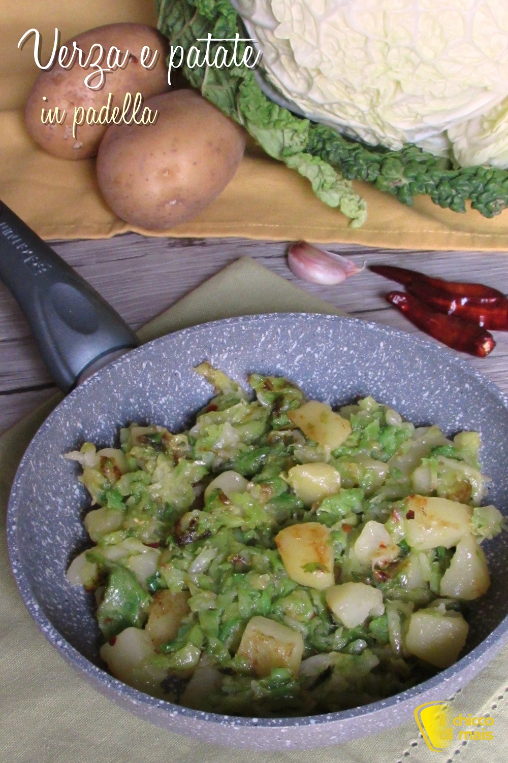 verticale_verza e patate in padella ricetta facile contorno con cavolo verza il chicco di mais