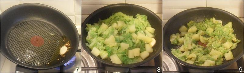 verza e patate in padella ricetta facile contorno con cavolo verza il chicco di mais 3 ripassare in padella la verza