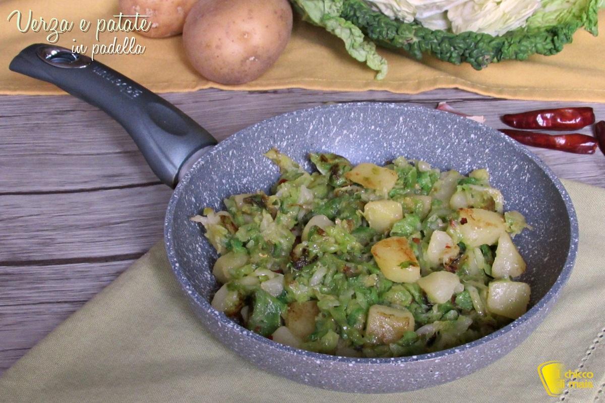 verza e patate in padella ricetta facile contorno con cavolo verza il chicco di mais