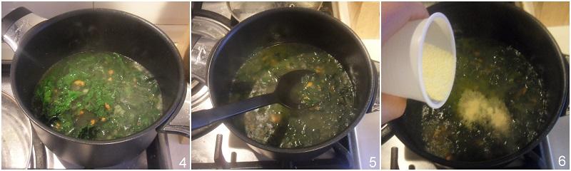 zuppa di polenta e cavolo nero al gorgonzola ricetta facile il chicco di mais 2 unire la polenta istantanea