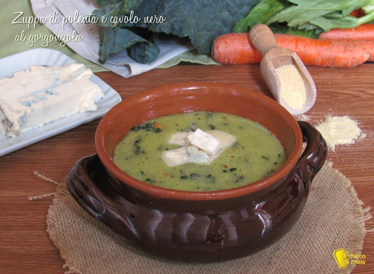 zuppa di polenta e cavolo nero al gorgonzola ricetta facile il chicco di mais