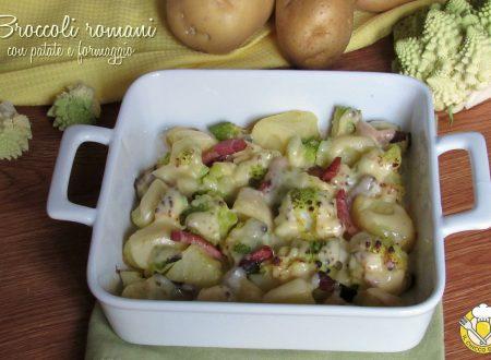 Broccoli romani con patate e formaggio
