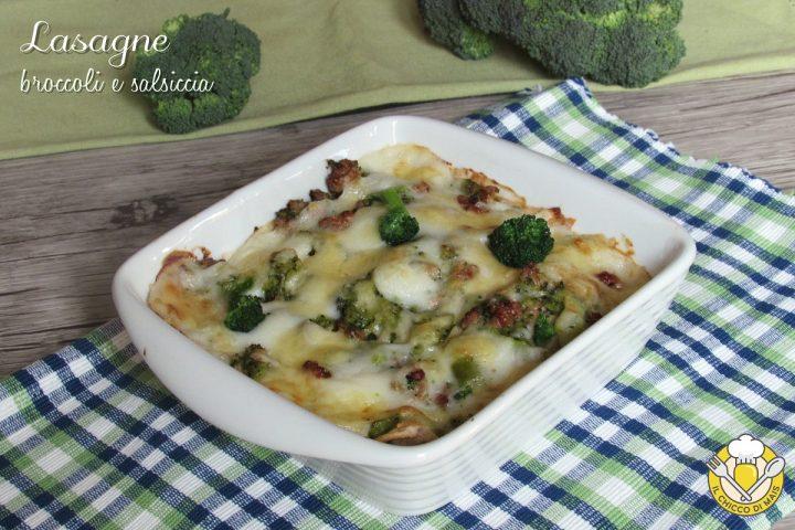 Lasagne broccoli e salsiccia ricetta semplice e saporita il chicco di mais