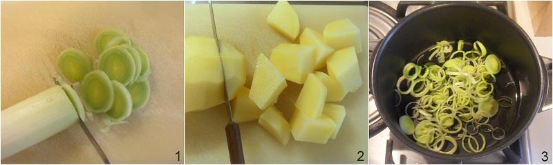 Potage parmentier vellutata di patate e porri francese ricetta facile e veloce il chicco di mais 1 tagliare le verdure