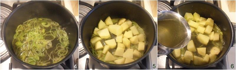 Potage parmentier vellutata di patate e porri francese ricetta facile e veloce il chicco di mais 2 stufare porri e patate