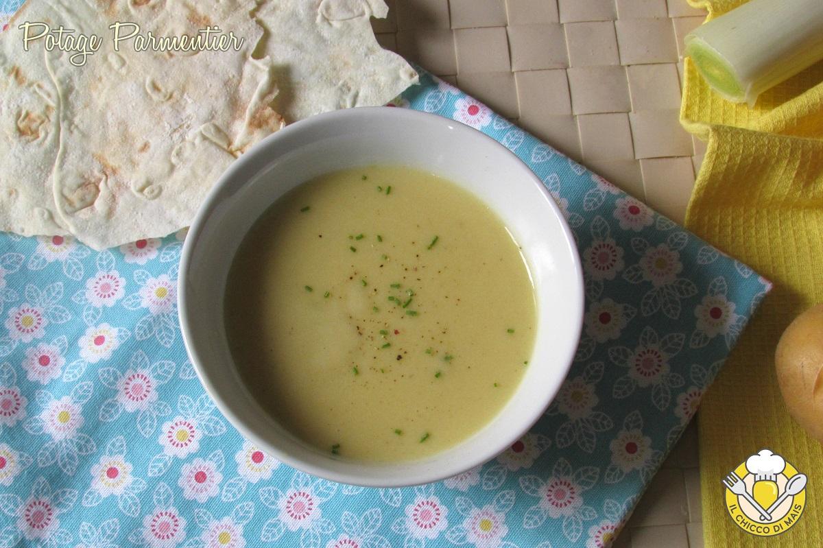 Potage parmentier vellutata di patate e porri francese ricetta facile e veloce il chicco di mais