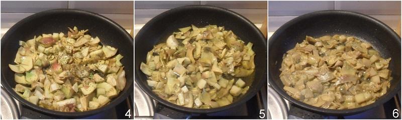 involtini di pollo con pancetta e carciofi ricetta facile e gustosa il chicco di mais 2 cuocere i carciofi trifolati