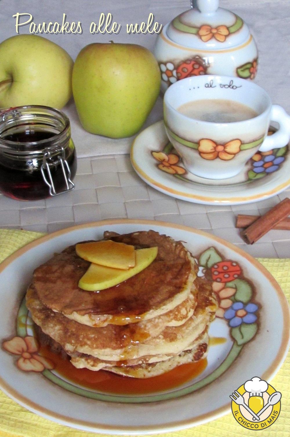 verticale_pancakes alle mele ricetta facile e veloce il chicco di mais