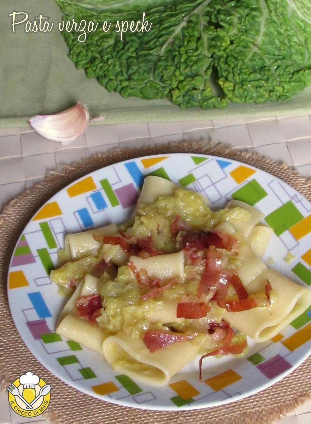 verticale_pasta verza e speck ricetta primo con paccheri il chicco di mais