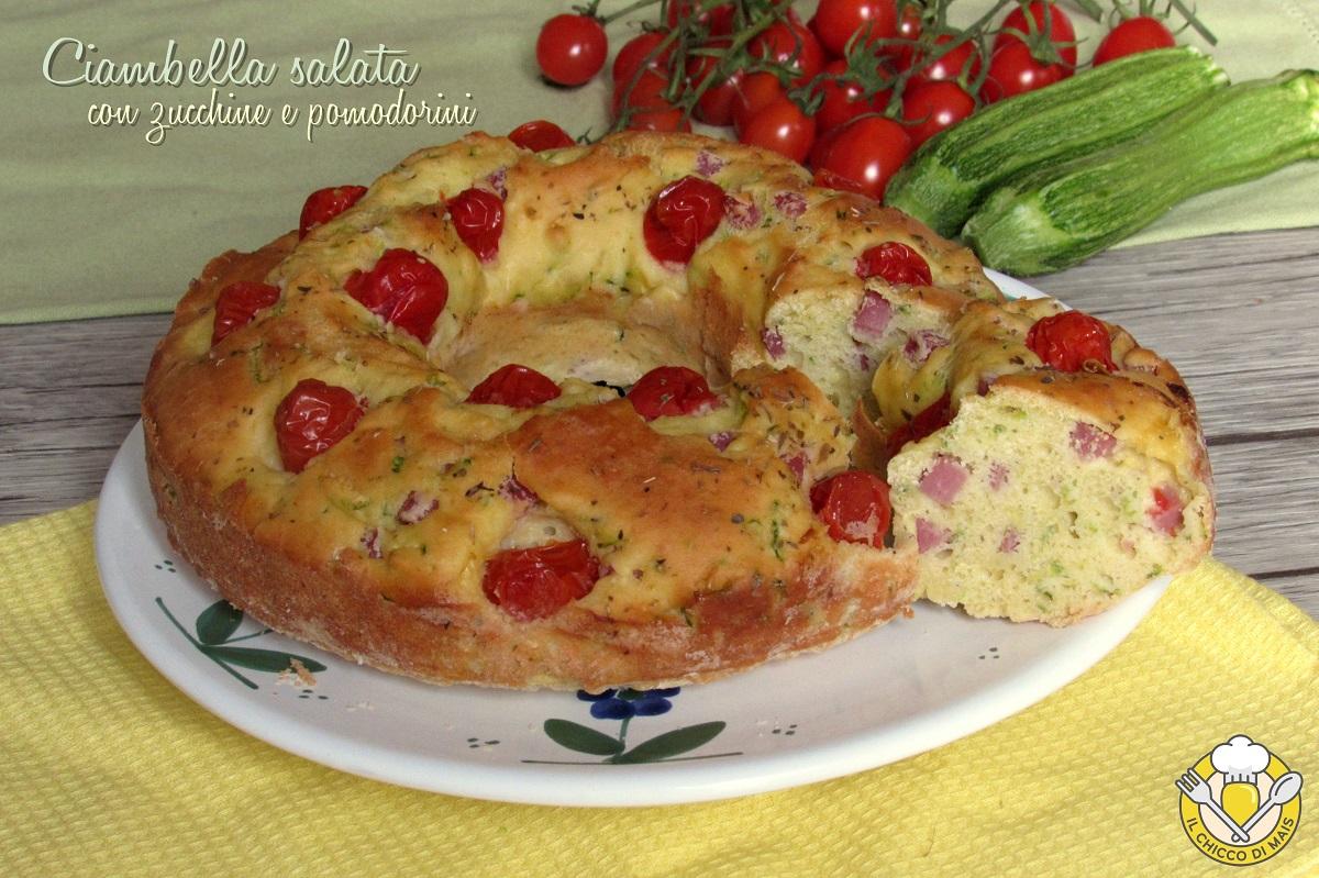 ciambella salata con zucchine e pomodorini prosciutto e formaggio ricetta tradizionale e senza glutine il chicco di mais