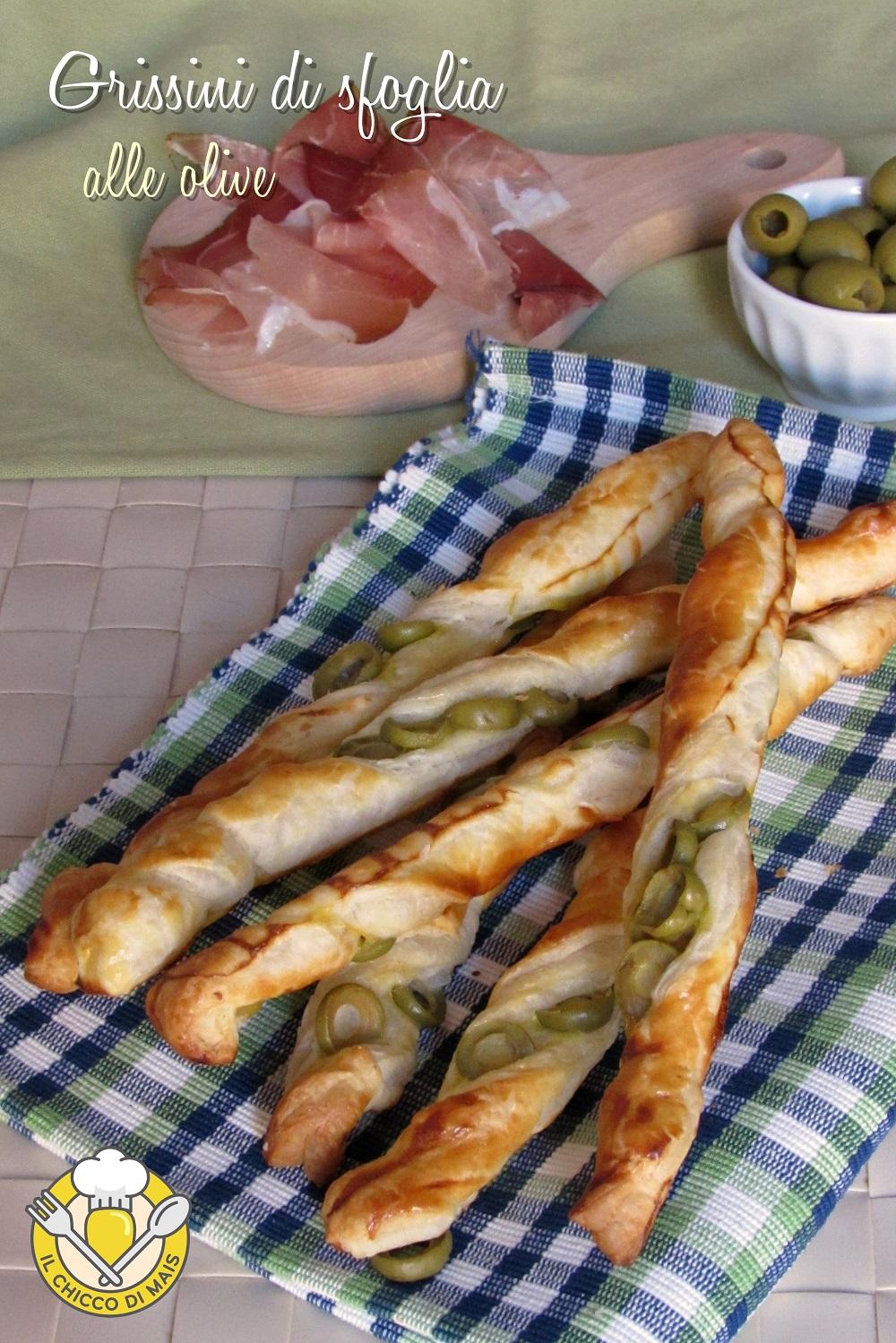 verticale_grissini di sfoglia alle olive ricetta stuzzichino veloce e facile il chicco di mais