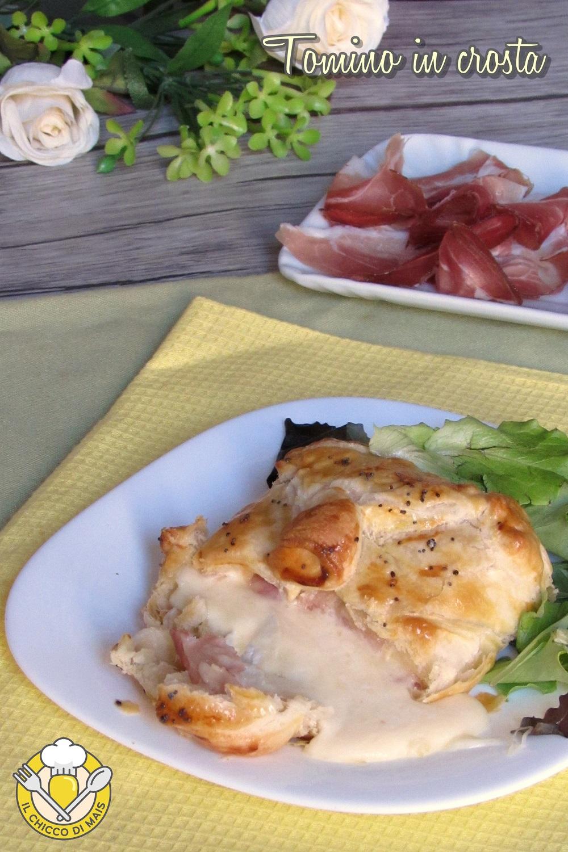 verticale_tomino in crosta di sfoglia con speck ricetta antipasto facile e veloce con pasta sfoglia il chicco di mais