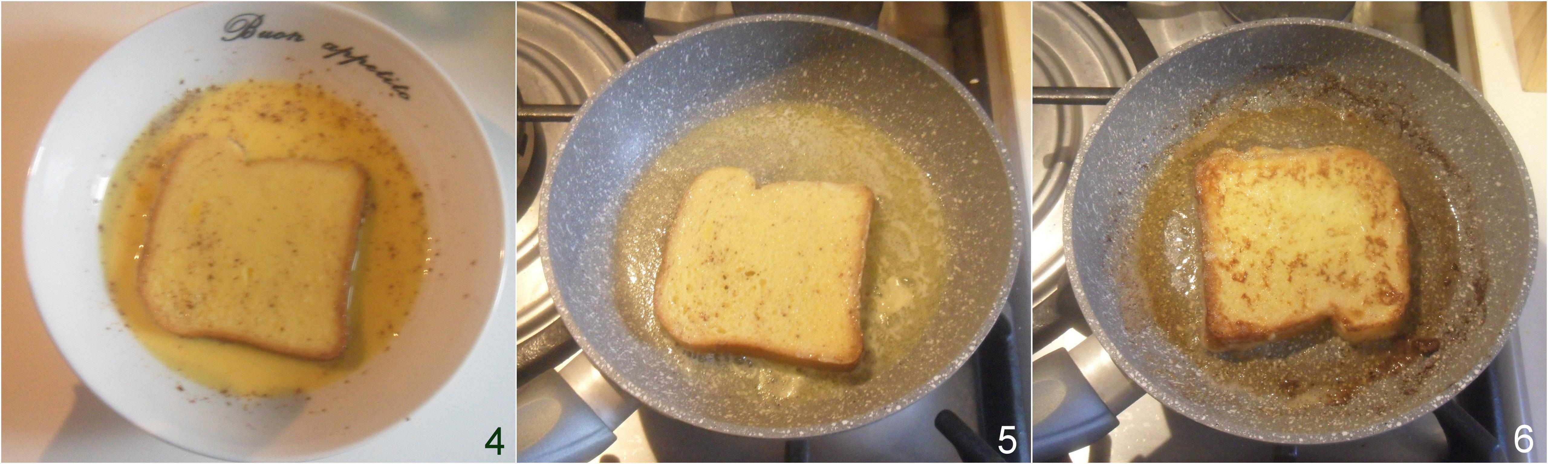 french toast ricetta pane fritto dorato per colazione americana il chicco di mais 2 cuocere in padella