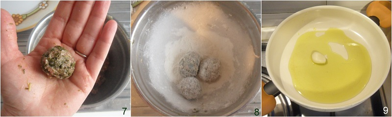 polpette di carne e verdure cime di rapa spinaci friarielli cavolo nero bieta ricetta polpette morbide il chicco di mais 3 fare le polpette