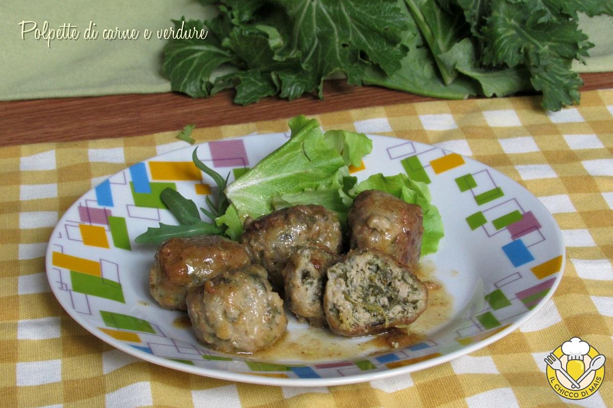 polpette di carne e verdure cime di rapa spinaci friarielli cavolo nero bieta ricetta polpette morbide il chicco di mais