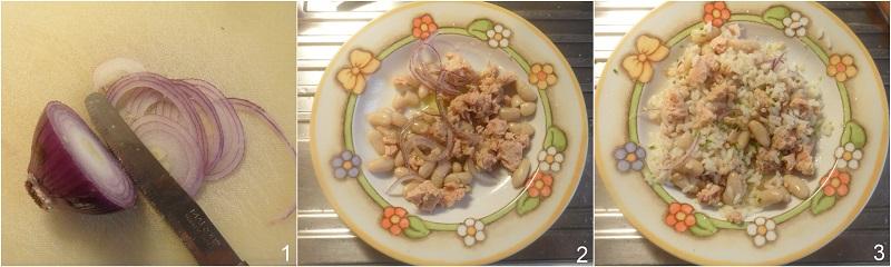 riso freddo con tonno e fagioli ricetta insalata di riso veloce da portare in spiaggia il chicco di mais procedimento