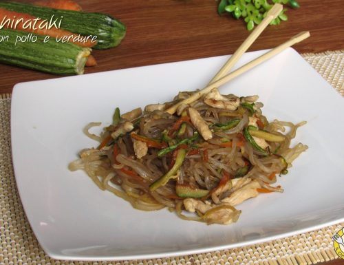 Shirataki con pollo e verdure