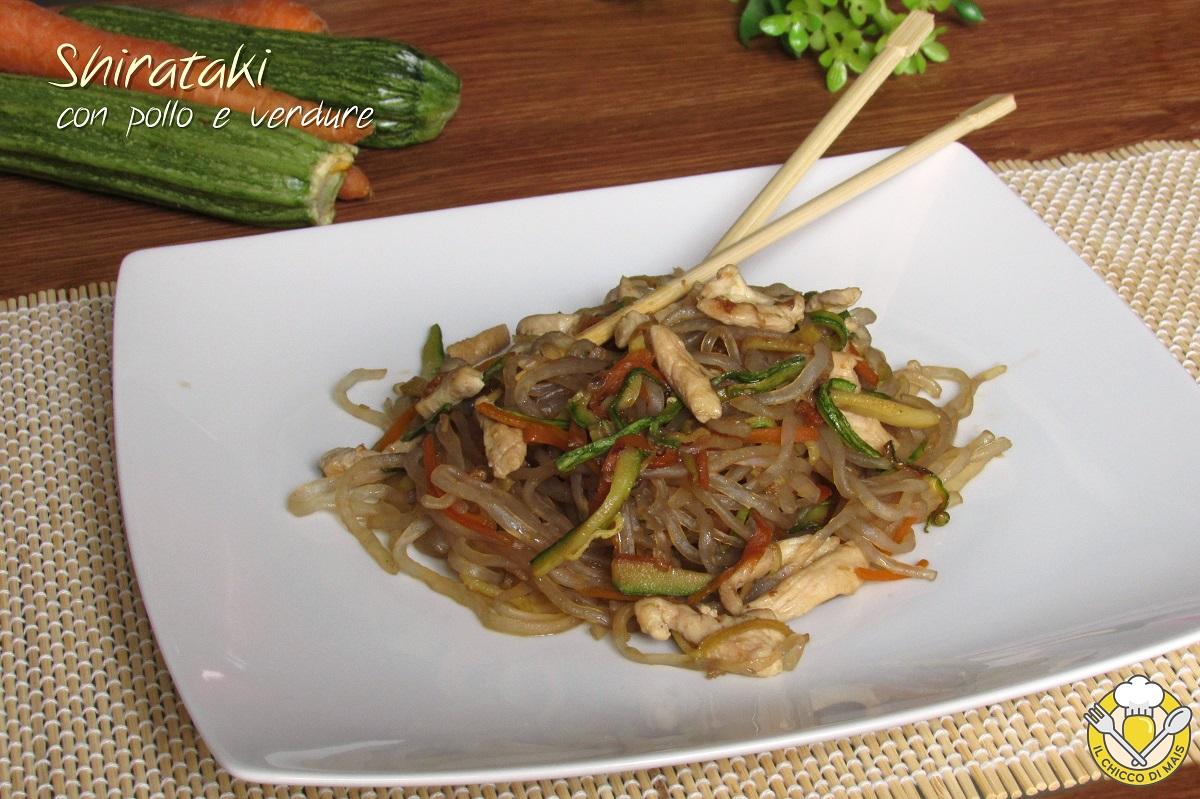shirataki con pollo e verdure ricetta dukan pasta senza carboidrati light dietetica giapponese il chicco di mais