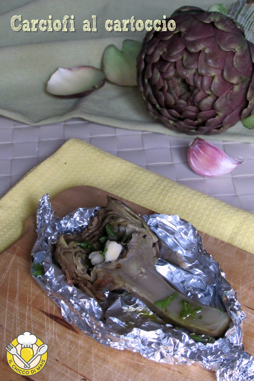 verticale_Carciofi al cartoccio ricetta light carciofi al forno interi morbidi leggeri dietetici il chicco di mais