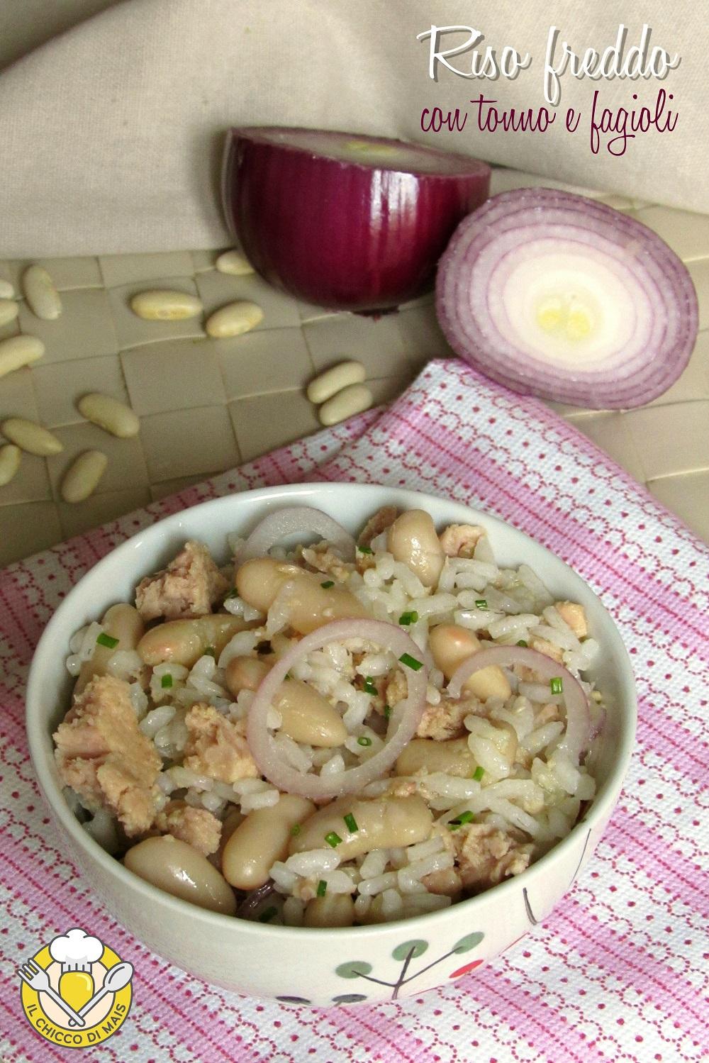verticale_riso freddo con tonno e fagioli ricetta insalata di riso veloce da portare in spiaggia il chicco di mais