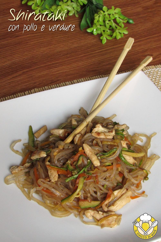 verticale_shirataki con pollo e verdure ricetta dukan pasta senza carboidrati light dietetica giapponese il chicco di mais