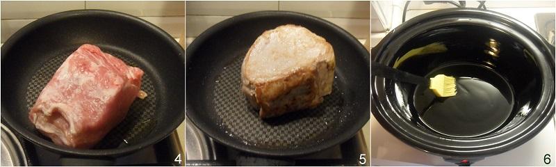 Arista nella slow cooker con mela verde e mandarini ricetta arrosto di maiale tenero e succulento il chicco di mais 2 rosolare carne