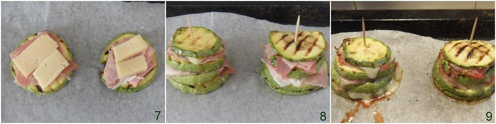 Torrette di zucchine con prosciutto e formaggio ricetta con zucchine grigliate facile il chicco di mais 3 cuocere in forno