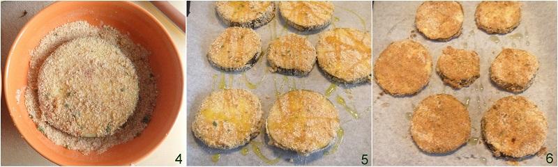 cotolette di melanzane al forno ricetta fette di melanzane impanate non fritte il chicco di mais 2 cuocere in forno
